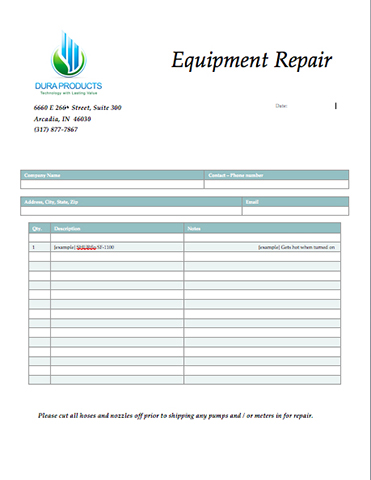 Dura Products_Repair_Form